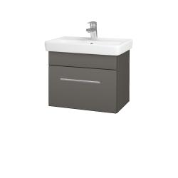Dřevojas - Koupelnová skříň SOLO SZZ 55 - N06 Lava / Úchytka T02 / N06 Lava (205614B)