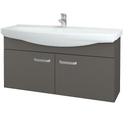 Dřevojas - Koupelnová skříň TAKE IT SZD2 120 - N06 Lava / Úchytka T01 / N06 Lava (206611A)
