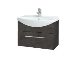 Dřevojas - Koupelnová skříň TAKE IT SZZ 65 - D16  Beton tmavý / Úchytka T04 / D16 Beton tmavý (206666E)