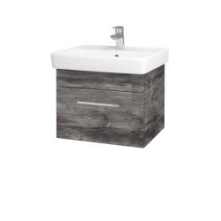 Dřevojas - Koupelnová skříň Q UNO SZZ 55 - D10 Borovice Jackson / Úchytka T04 / D10 Borovice Jackson (208240E)