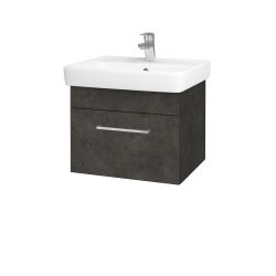 Dřevojas - Koupelnová skříň Q UNO SZZ 55 - D16  Beton tmavý / Úchytka T04 / D16 Beton tmavý (208264E)