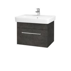 Dřevojas - Koupelnová skříň Q UNO SZZ 60 - D16  Beton tmavý / Úchytka T04 / D16 Beton tmavý (208462E)
