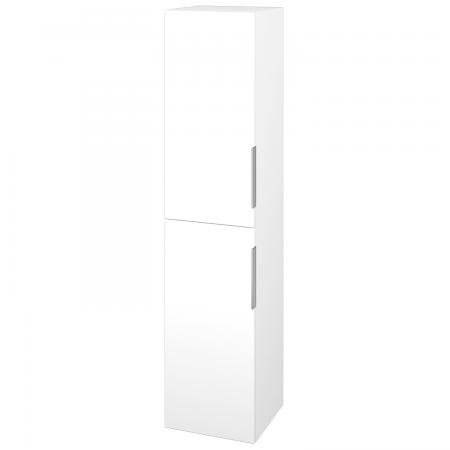 Dřevojas - Skříň vysoká s košem DOS SVD2K 35 - M01 Bílá mat / Úchytka T05 / M01 Bílá mat / Pravé (210670FP)