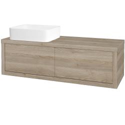 Dřevojas - Koupelnová skříň STORM SZZ2 120 (umyvadlo Joy) - D17 Colorado / D17 Colorado / Pravé (214142P)