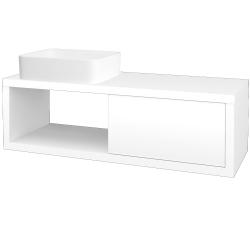 Dřevojas - Koupelnová skříň STORM SZZO 120 (umyvadlo Joy) - M01 Bílá mat / M01 Bílá mat / Pravé (215149P)