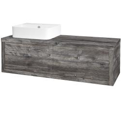Dřevojas - Koupelnová skříň STORM SZZ2 120 (umyvadlo Joy 3) - D10 Borovice Jackson / D10 Borovice Jackson / Pravé (218782P)