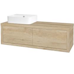 Dřevojas - Koupelnová skříň STORM SZZ2 120 (umyvadlo Joy 3) - D15 Nebraska / D15 Nebraska / Pravé (218805P)