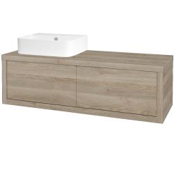 Dřevojas - Koupelnová skříň STORM SZZ2 120 (umyvadlo Joy 3) - D17 Colorado / D17 Colorado / Pravé (218829P)