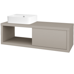 Dřevojas - Koupelnová skříň STORM SZZO 120 (umyvadlo Joy 3) - N07 Stone / N07 Stone / Pravé (219857P)