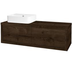 Dřevojas - Koupelnová skříň STORM SZZ2 120 (umyvadlo Joy 3) - D21 Tobacco / D21 Tobacco / Pravé (252410P)