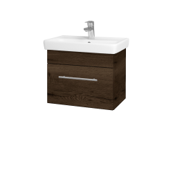 Dřevojas - Koupelnová skříň SOLO SZZ 55 - D21 Tobacco / Úchytka T02 / D21 Tobacco (278977B)