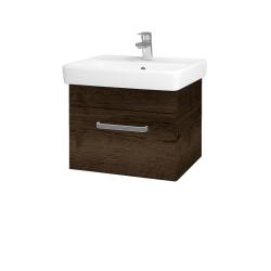 Dřevojas - Koupelnová skříň Q UNO SZZ 55 - D21 Tobacco / Úchytka T01 / D21 Tobacco (279653A)