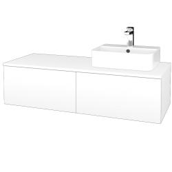 Dřevojas - Koupelnová skříňka MODULE SZZ12 120 - M01 Bílá mat / M01 Bílá mat / Levé (300814)