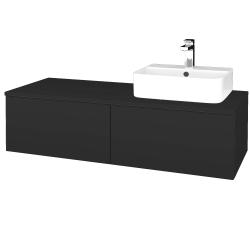 Dřevojas - Koupelnová skříňka MODULE SZZ12 120 - N03 Graphite / N03 Graphite / Levé (300869)