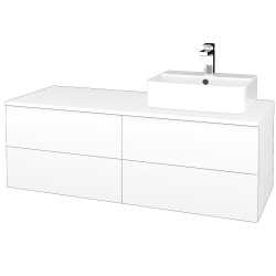Dřevojas - Koupelnová skříňka MODULE SZZ4 120 - M01 Bílá mat / M01 Bílá mat / Pravé (302221P)