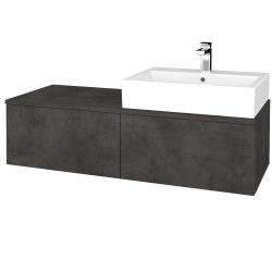 Dřevojas - Koupelnová skříňka MODULE SZZ12 120 - D16  Beton tmavý / D16 Beton tmavý / Pravé (315351P)