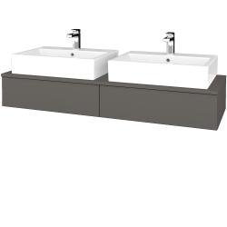 Dřevojas - Koupelnová skříňka MODULE SZZ2 140 - N06 Lava / N06 Lava (316846)