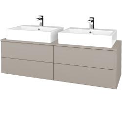 Dřevojas - Koupelnová skříňka MODULE SZZ4 140 - N07 Stone / N07 Stone (317799)