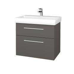 Dřevojas - Koupelnová skříň PROJECT SZZ2 70 - N06 Lava / Úchytka T03 / N06 Lava (323028C)
