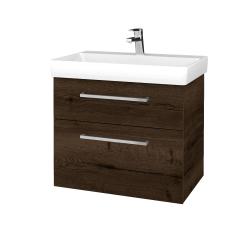 Dřevojas - Koupelnová skříň PROJECT SZZ2 70 - D21 Tobacco / Úchytka T04 / D21 Tobacco (323288E)