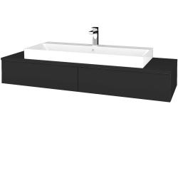 Dřevojas - Koupelnová skříňka MODULE SZZ2 140 - N03 Graphite / N03 Graphite (337292)