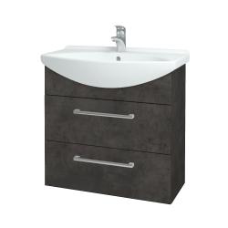 Dřevojas - Koupelnová skříň TAKE IT SZZ2 75 - D16  Beton tmavý / Úchytka T03 / D16 Beton tmavý (207625C)