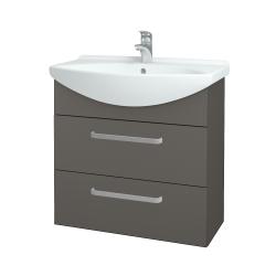 Dřevojas - Koupelnová skříň TAKE IT SZZ2 75 - N06 Lava / Úchytka T01 / N06 Lava (207731A)