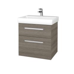 Dřevojas - Koupelnová skříň PROJECT SZZ2 60 - D03 Cafe / Úchytka T01 / D03 Cafe (322403A)