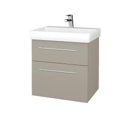 Dřevojas - Koupelnová skříň PROJECT SZZ2 60 - M05 Béžová mat / Úchytka T02 / M05 Béžová mat (322519B)