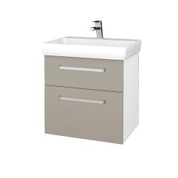 Dřevojas - Koupelnová skříň PROJECT SZZ2 60 - N01 Bílá lesk / Úchytka T01 / M05 Béžová mat (322717A)