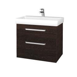 Dřevojas - Koupelnová skříň PROJECT SZZ2 70 - D08 Wenge / Úchytka T01 / D08 Wenge (322908A)