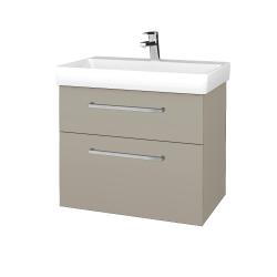 Dřevojas - Koupelnová skříň PROJECT SZZ2 70 - L04 Béžová vysoký lesk / Úchytka T04 / L04 Béžová vysoký lesk (323004E)