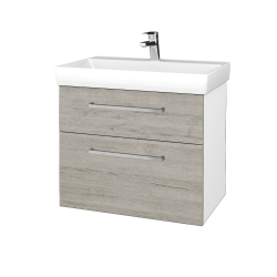 Dřevojas - Koupelnová skříň PROJECT SZZ2 70 - N01 Bílá lesk / Úchytka T04 / D05 Oregon (323080E)