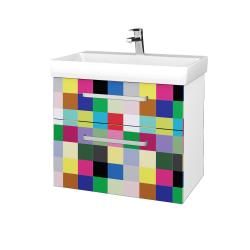 Dřevojas - Koupelnová skříň PROJECT SZZ2 70 - N01 Bílá lesk / Úchytka T01 / IND Individual (323189A)