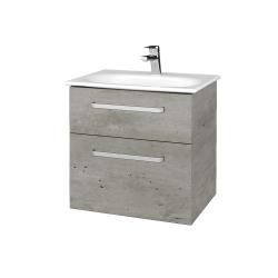 Dřevojas - Koupelnová skříň PROJECT SZZ2 60 - D01 Beton / Úchytka T01 / D01 Beton (328191A)