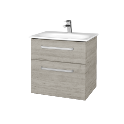 Dřevojas - Koupelnová skříň PROJECT SZZ2 60 - D05 Oregon / Úchytka T01 / D05 Oregon (328238A)