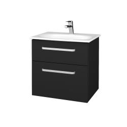 Dřevojas - Koupelnová skříň PROJECT SZZ2 60 - L03 Antracit vysoký lesk / Úchytka T01 / L03 Antracit vysoký lesk (328344A)