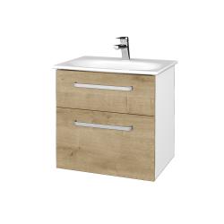 Dřevojas - Koupelnová skříň PROJECT SZZ2 60 - N01 Bílá lesk / Úchytka T01 / D09 Arlington (328467A)