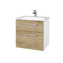 Dřevojas - Koupelnová skříň PROJECT SZZ2 60 - N01 Bílá lesk / Úchytka T03 / D09 Arlington (328467C)