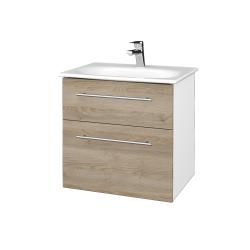 Dřevojas - Koupelnová skříň PROJECT SZZ2 60 - N01 Bílá lesk / Úchytka T02 / D17 Colorado (328504B)