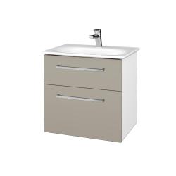 Dřevojas - Koupelnová skříň PROJECT SZZ2 60 - N01 Bílá lesk / Úchytka T04 / M05 Béžová mat (328528E)