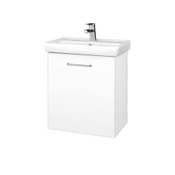 Dřevojas - Koupelnová skříň DOOR SZD 55 - M01 Bílá mat / Úchytka T04 / M01 Bílá mat / Pravé (205126EP)