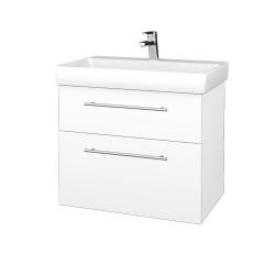 Dřevojas - Koupelnová skříň PROJECT SZZ2 70 - M01 Bílá mat / Úchytka T02 / M01 Bílá mat (322960B)