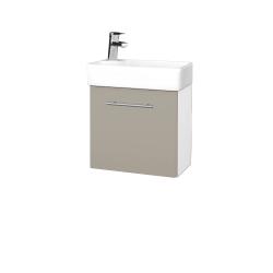 Dřevojas - Koupelnová skříň DOOR SZD 44 - N01 Bílá lesk / Úchytka T02 / L04 Béžová vysoký lesk / Pravé (122775BP)
