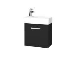 Dřevojas - Koupelnová skříň DOOR SZD 44 - L03 Antracit vysoký lesk / Úchytka T01 / L03 Antracit vysoký lesk / Pravé (151652AP)