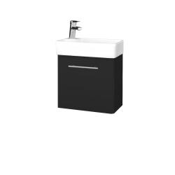Dřevojas - Koupelnová skříň DOOR SZD 44 - L03 Antracit vysoký lesk / Úchytka T02 / L03 Antracit vysoký lesk / Pravé (151652BP)