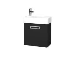 Dřevojas - Koupelnová skříň DOOR SZD 44 - L03 Antracit vysoký lesk / Úchytka T39 / L03 Antracit vysoký lesk / Pravé (151652GP)