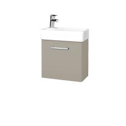 Dřevojas - Koupelnová skříň DOOR SZD 44 - L04 Béžová vysoký lesk / Úchytka T03 / L04 Béžová vysoký lesk / Pravé (151669CP)