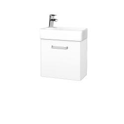 Dřevojas - Koupelnová skříň DOOR SZD 44 - N01 Bílá lesk / Úchytka T01 / L01 Bílá vysoký lesk / Pravé (21903AP)