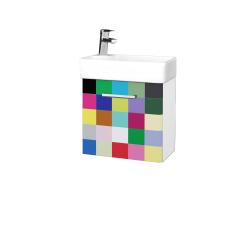 Dřevojas - Koupelnová skříň DOOR SZD 44 - N01 Bílá lesk / Úchytka T03 / IND Individual / Pravé (23969CP)